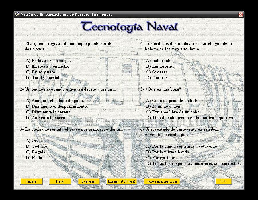 NAUTICORUM. Exámenes para Patrón de Embarcaciones de Recreo