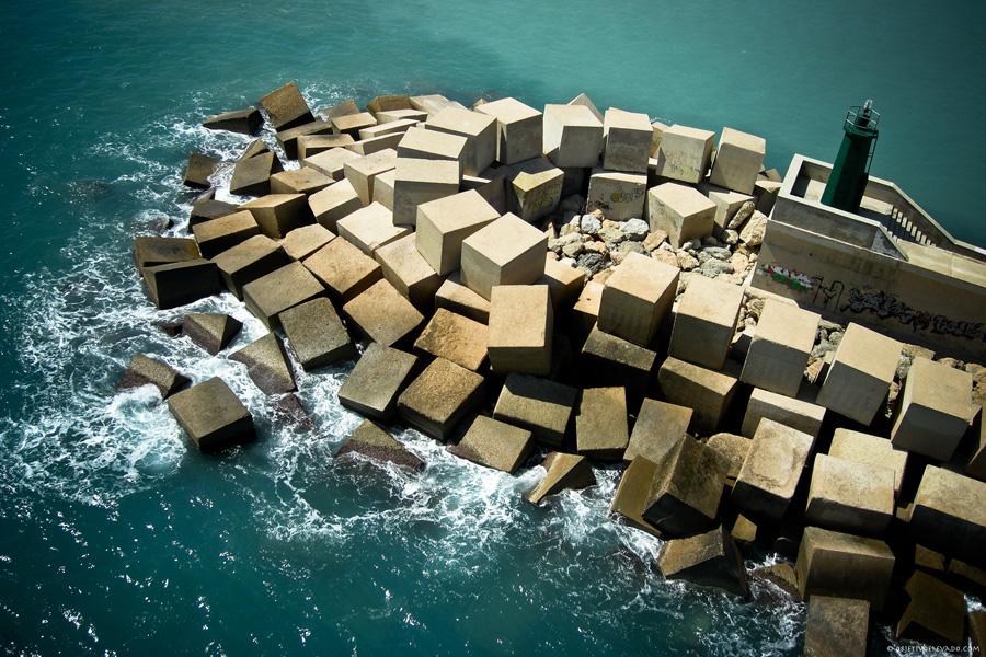 Puzzle Rompecabezas del Mundo Marino. Espigón de Estribor -  Faro Verde del Puerto de Altea